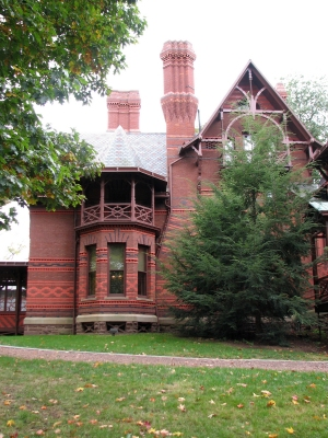 Mark Twain House, Hartford<br>photo by Jan Mann - <i>Cruising Connecticut with a Picnic Basket</i>